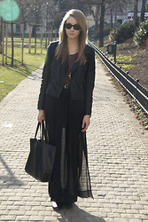 Pavlina J. - Sheinside Jacket, Zara Skirt, Céline Bag - Maxi sheer skirt