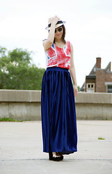 Minou T. - H&M Top, American Apparel Skirt - Maxi skirt