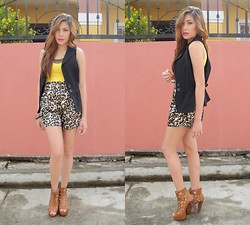 J-mea Catrina Callet - Myshop Iheart Boots, Prettypink Shoppe Loepard Shorts - Sun-Day