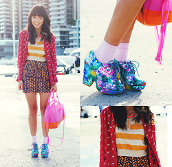 Connie Cao - Vintage Necklace, Asos Top, Gorman Skirt, Asos Bag, Uo Shoes - On the waterfront