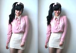 Verniece Enciso - Pinkbox Headband - School Girl: Pink and Cream