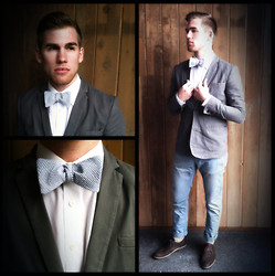 Scott M - Diy Bow Tie, Urban Outfitters Blazer, Gap Trousers (Tailored) - Sunday Switch-up