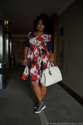Gisella Francisca - Gina Tricot Dress, Louis Vuitton Bag, Stella Mccartney Sneakers - Hotel rocking