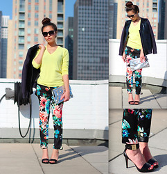 Leah Ho -  - Marni for H&M X Floral pants