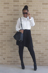 Joy U - Target Skirt, Zara Bag, Zara Shoes, Forever 21 Ring - White and black