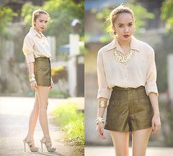 Wicked Ying - Buttondown Top, Forever 21 Accessories - Look 352: Make It Work