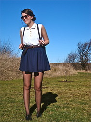 Pernille Moesgaard - My Mothers Old T Shirt Shirt, Monki Skirt, Kvickly Sunglasses - Good girls.....goes bad!
