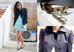 Wulan Wu - Stage Of Playlord Navy Blazers, Fendi Sunglasses, Katie Judith Tosca Tube Heels - That Cool
