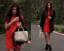 Yeliz S - Ksubi Waist Coat, Mango Dress, Mango Bag, Robert Boots - Soldier Of Orange.