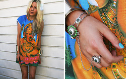 Penelope Sarah - Ebay Tee (Worn As Dress), Morocco Ring Bracelet - Sunshine makes everything better