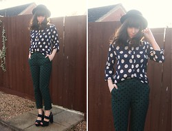 Sarah B - Whistles Polka Dot Blouse, Polka Dot Trousers - Double Dots