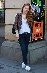 Tissi .K - Zara Leather Jacket, Dr. Denim Jeans, Vans Shoes - Spring is a time for new beginnings