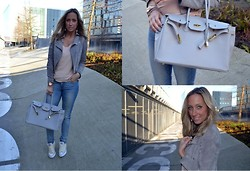 Ellis In Fashionland - Mynewbag.Nl Birkin Bag Look A Like, Goosecraft Suede Jacket, Lee Jeans, All Stars Shoes, Zara Top, Michael Kors Watch - Collaboration Ellis in Fashionland