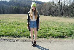 Stacey Belko - Levi's® Cut Offs, Finsk Wedge Booties - Perfect painted ponies prancing proudly on the prairie.