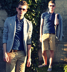 Rob Evans - River Island Blazer, Topman Polo, River Island Belt, H&M Shorts, Topman Espadrilles - These days are golden