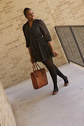 Joy U - Forever 21 Dress, New Look Tote Bag, H&M Flats/Shoes - Polka dots !