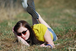Tyna R. - Zara Tee, Primark Flats - Relaxing in the grass ^^