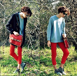 Clement Richard Berland - Kickers Shoes, Tommy Hilfiger Sweater, Zara Skinny Pants, Zara Jacket - C'est l'éclate dans les arbres de ma conscience somatique !