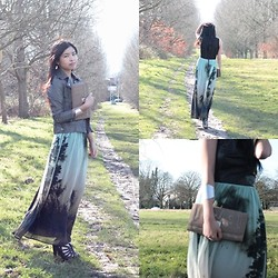 Isabel L - Miss Selfridge Leather Maxidress, Aldo Clutch, New Look Leather Jacket, Topshop Heels - Walk into the sunset with me