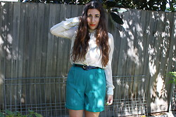 Yeliz S - Mango Blouse, Vintage Belt, Vintage Shorts - Threaded Gorget.