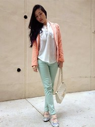 Nicole Csm - Korean Street Shop Jacket, Zara Mint Jeans, Maison Flats, Delyle Bag - Joy to the busy week.