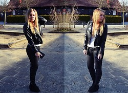 Alicia S - H&M Jacket, Gina Tricot Leather Jeans - Wensday/miercoles/onsdag