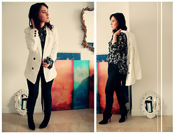 Veronica R. - Mango Jacket, Thrifted Blouse, Car Mar Waxy Jeans, Zara Boots - 2.h.2012