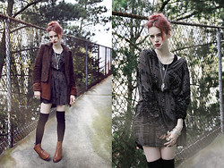 Severine A - Crash And Burn Dress, American Apparel Socks, Matiko Boots - Living in a rose tinted world