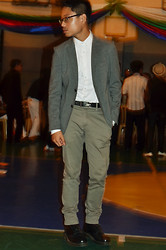 CP Garcia - Onesimus Blazer, Topman White Shirt, Black Label Homme Trousers, Dr. Martens Boots - GRAD BALL