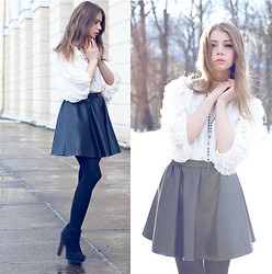 Anna Vershinina - Queen's Wardrobe Blouse, H&M Skirt - Angel Blouse from Queen's Wardrobe