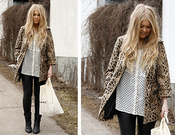 Emmi T - H&M Jacket, Kappahl Blouse, Forever 21 Boots - SPOTS & DOTS