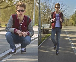 Eliah M - Zara College Jacket, Fizzen Tshirt, Cheap Monday Skinny Jeans, Vans - We've got the vision