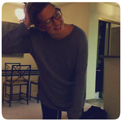 Rachel O - Urban Outfitters Glasses, American Apparel Sweater, Zara Pants - The windy city is mighty pretty...