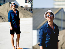 Lucas Lishke - H&M White Hat, H&M Navy Blue Shirt, H&M Black Shorties - I live my life to the fullest!!!