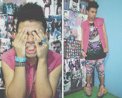 Quayn Pedroso - Sm Dept. Store Star Bracelet, Marc By Jacobs Vest, Trifted Jodhpur, Trifted Shirt, Jeremy Scott Winged Shoes, Gorgeous Star Ring - Naega Jeil Jal Naga