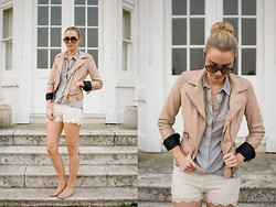 Anna Connelly - Reiss Shirt, Zara Shorts, Zara Jacket, Topshop Shoes, Ray Ban Sunglasses - A Love Affair of Lace…