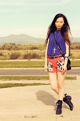 Jessica Wu - C/O Bohemiaboutiques Top, C/O Sugarlipsapparel.Com Shorts - Tribal colorblock