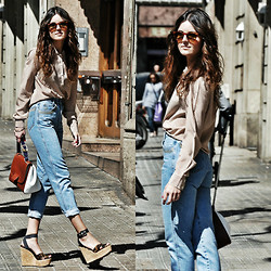 Laura Views - Christian Dior Shirt, Roccobarocco Jeans, Dolce & Gabbana Wedges, Fendi Bag - My selection