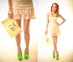 Wicked Ying - Lace Dress, Neon Pumps, Pinkaholic Green Necklace - Look 365: Fin