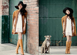 Olivia Lopez - Vintage Leather Cape, Vintage Boots - Dressed for Downtown
