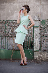 Gabriela A. - My Design - My own designed Mint dress. WIN this look !