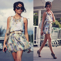 Alana Ruas - In Love With Fashion Dress, Tvz Heels, Scaramuggio Necklace, Renner Sunglasses - You don't know me no more.