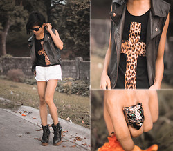 Brian Evalle - Diy Cross Leopard Shirt, Aldo Panther Ring, Girbaud White Shorts - Keep Calm & Call Me Maybe