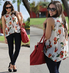 Daniela Ramirez - Romwe Top, Pop Of Chic Necklace, Mango Sunglasses, Forever 21 Jeans, Steve Madden Shoes, Mimi Boutique Bag - It's impossible to watch a sunset and not dream.
