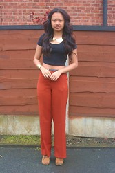 Husty Fuentes - American Apparel Cropped Top, Forever 21 Trousers - I've loved and I've lost