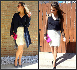 ChicFab Hunt - Forever 21 Lace Skirt, Bcbg Top, Thrift Store Clutch, The Limited Trench Coat - Make me yours