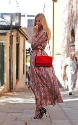 Jessica Stein - Zimmermann Maxi Dress, Zara Satchel Bag - Bohemia