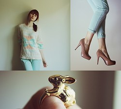 Ewa B. - Mango Sweater, New Look Pants, New Look Shoes, Pimkie Ring - Here I am, a rabbit hearted girl
