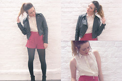 Sophie Louise Johnson - Primark Playsuit, Miss Selfridge Leather Jacket - I Wear A Halo When You Look At Me...