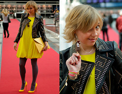 Bright Flight - Cos Dress, H&M Jacket, Christian Louboutin Shoes - Yellow Spring Volvo Fashion Week